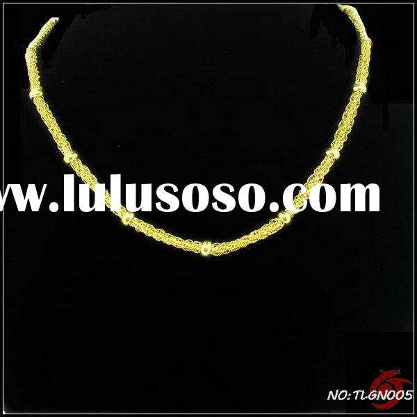 golden jewelry of stainless steel necklace