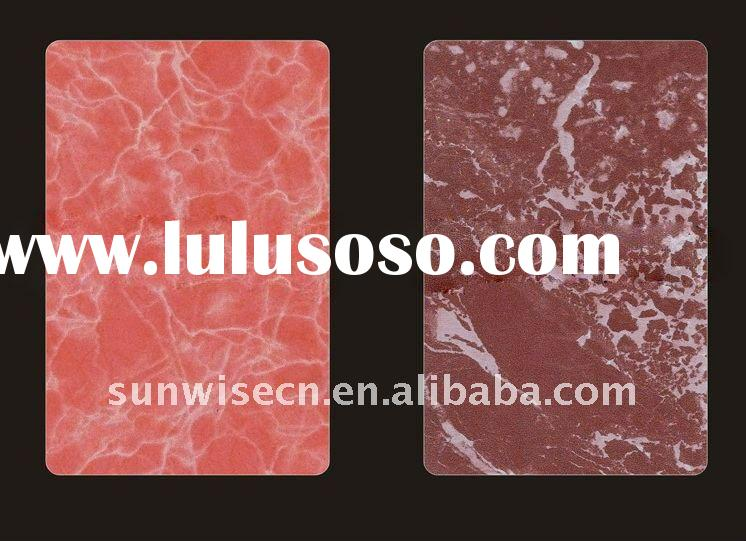 granite marble effect aluminum composite panel coated with PVDF