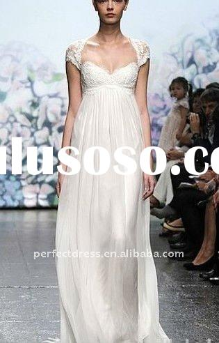 grecian style wedding dresses 2011 cap sleeve lace NSW2273