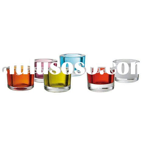 hand pressed t-light and votive glass candle holder