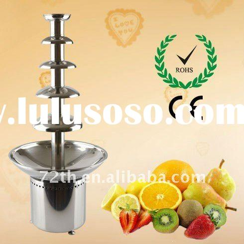 high grade hotel equipment utensils 5 tiers stainless steel chocolate fountain