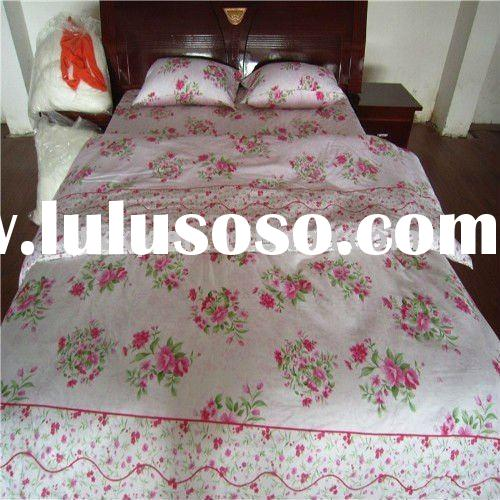 high quality and hot selling 100% cotton print duvet cover set