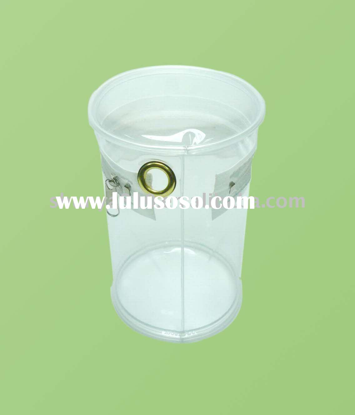 high quality clear PVC round shaped bag