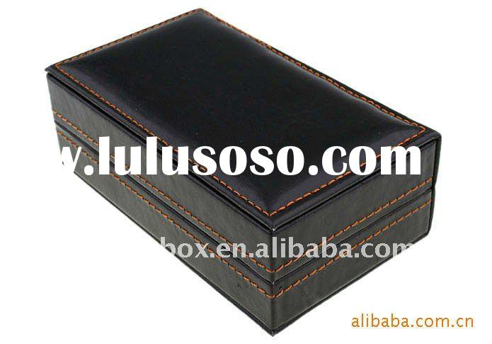 high quality fashion handmade leather cufflink box
