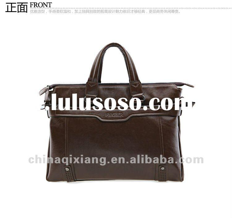 high quality genuine leather laptop briefcase