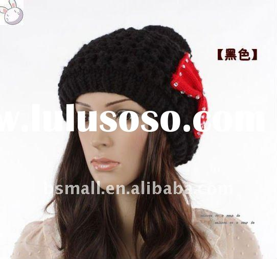 high quality new design lady fashion knitted winter hat