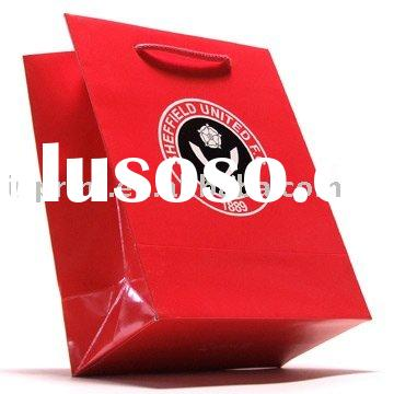 high quality paper bag(gloss paper gift bag,lady's cosmetic bag)