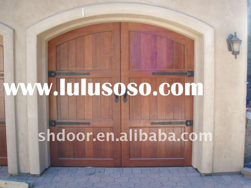 high quality solid wood garage doors