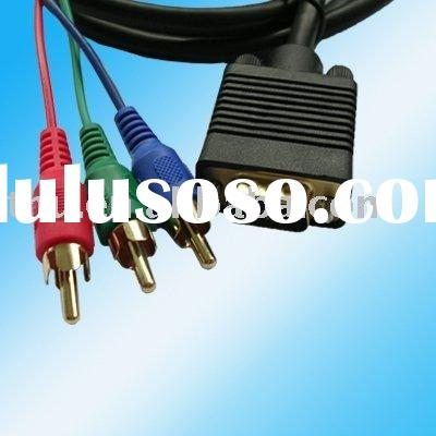 hot sale High Quality vga to 3 rca cable for LCD TV, vga to tv cable