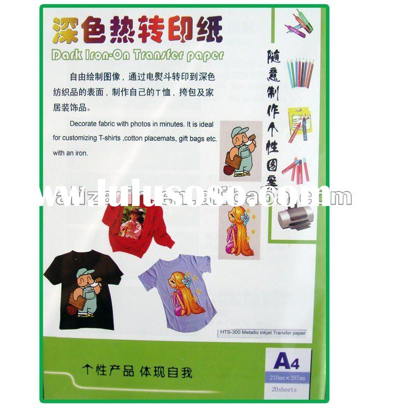 hot sale washable Dark inkjet heat Transfer Paper