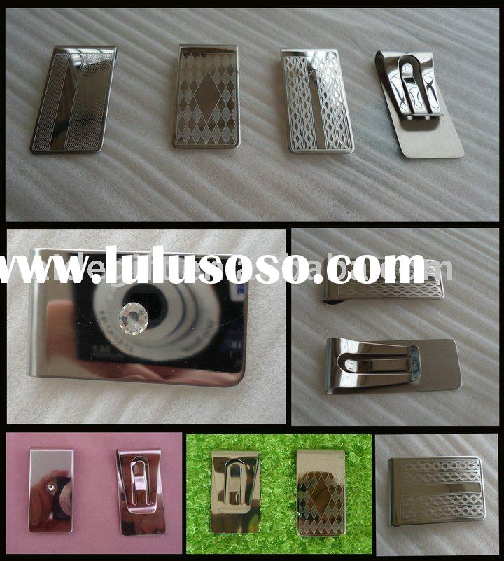 hot sell good quality stainless steel money clip for promotional gift