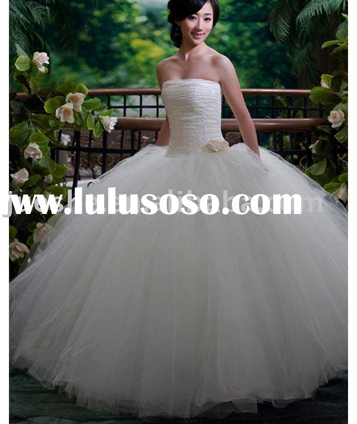 hotsale strapless princess ball gown wedding gown 8141