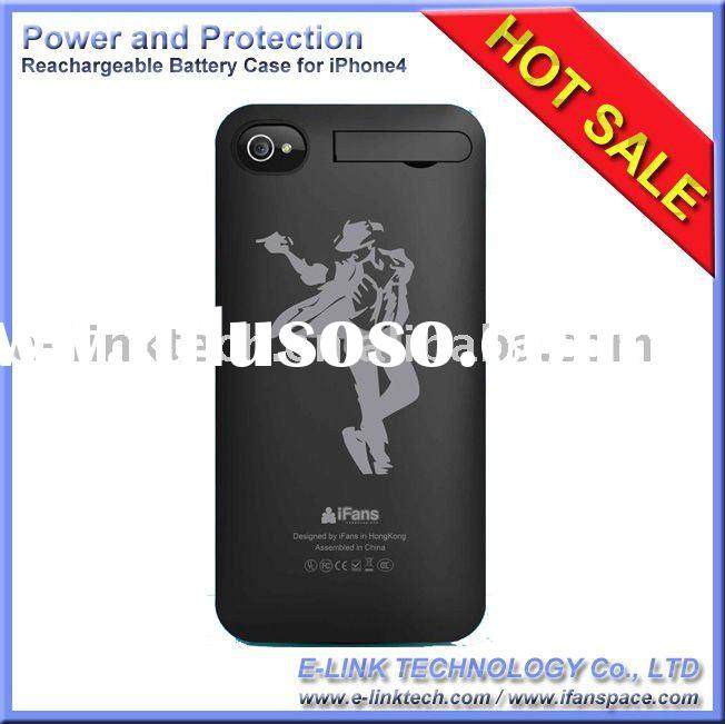 iFans External Rechargeable Battery Case for iPhone4