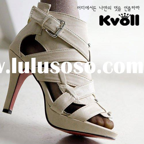 korean fashion design high heel shoes