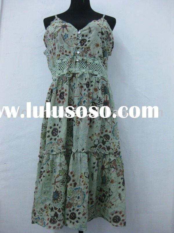 ladies hot sale 2012 print all long dress summer