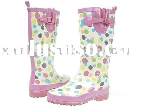 ladies' rubber boots(waterproof shoes,women rain boots)