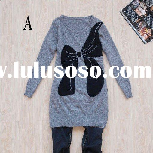 lady's long-sleeve sweater, fashion butterfly pattern knit wear [ca130801]