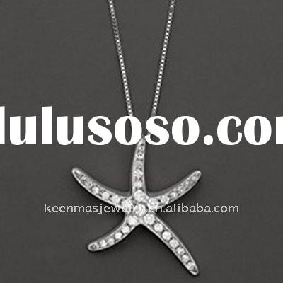 latest design 925 silver key necklace with rhodium plated, 925 sterling silver/ brass/ stainless ste