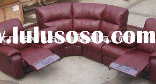 leather recliner sofa ,home theater sofa ,living room furniture