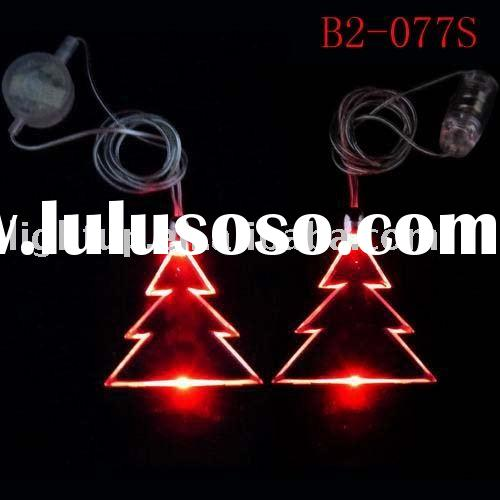 led flashing pendant necklace - Christmas tree shape