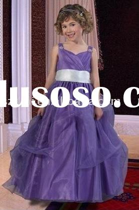 lovely organza ball gown flower girl dress AN-WD-0981