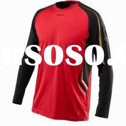 men's red long sleeve soccer jersey uniform