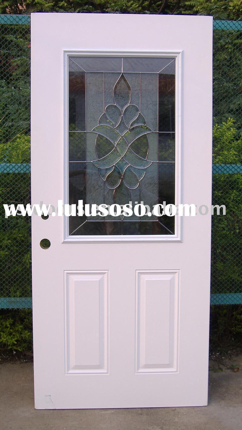 15 lite glass insert steel door exterior glass door