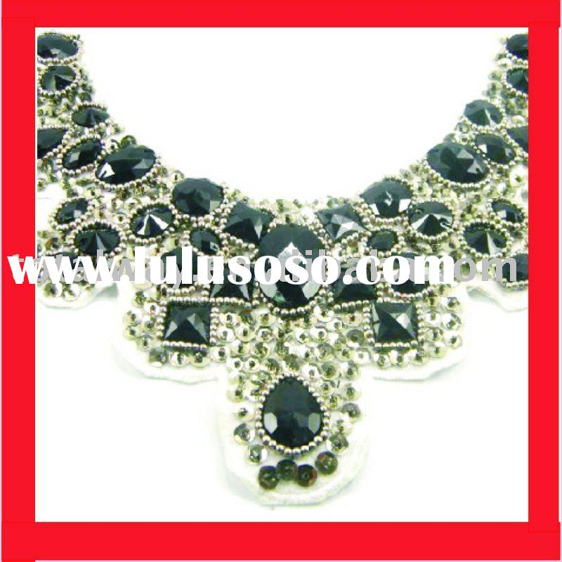 newly fashion collar trimming for garment, new style,sparkling