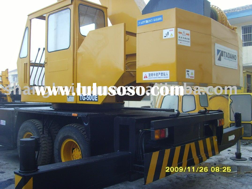 offer used TADANO truck crane TG500E 50 tons in good condition, mobile crane