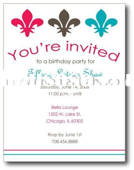 Invitation Cards For Children 39 S Birthday Party For Sale