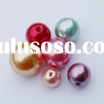 pearl loose beads, round acrylic pearl, plastic pearl round