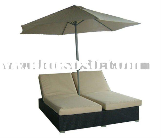 perfect design outdoor rattan sun lounge bed with canopy