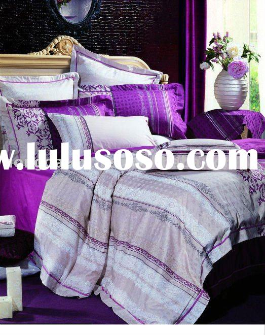 plain dyed high quality bedding set