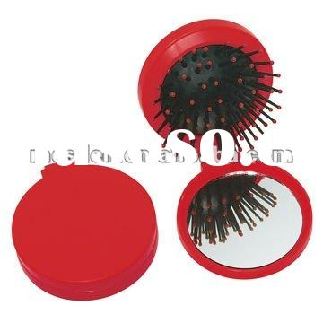 plastic hair brush mirror