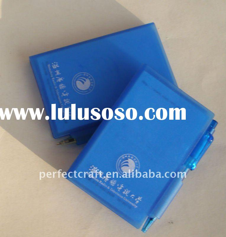 plastic promotional notepad with pen