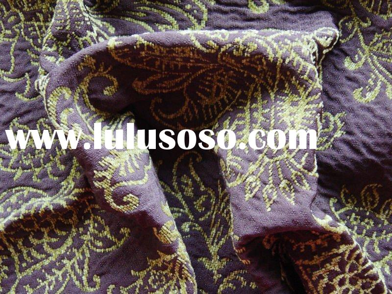 polyester and rayon chenille sofa fabric