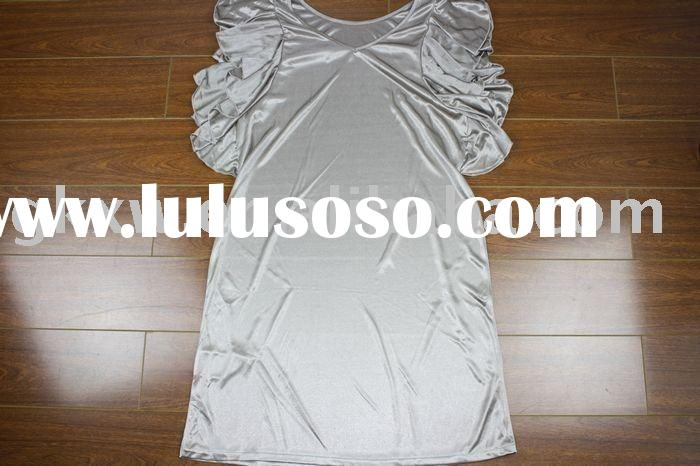 polyester/cotton fashion dress, ladies' dress, breathable t-shirt