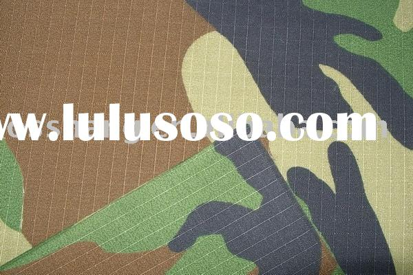 polyester oxford ripstop camouflage fabric