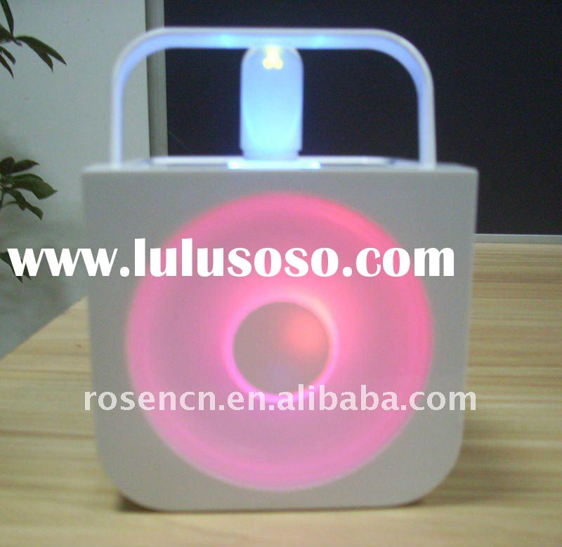 portable SD card speaker with color changing LED light