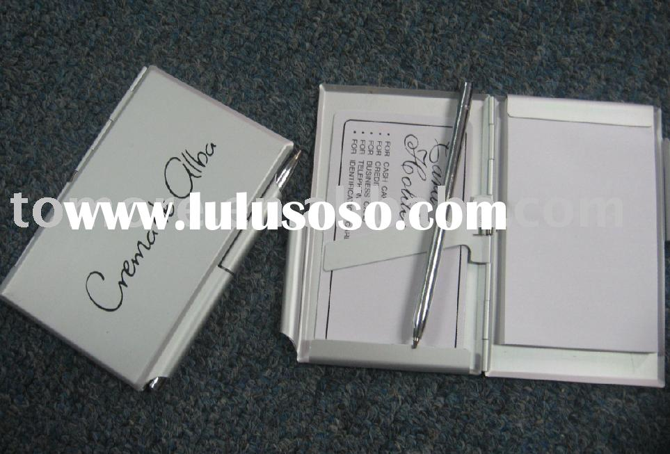 promotion gifts Business Card Holder With Pad Book