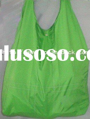 recycle polyester folding shopping bag