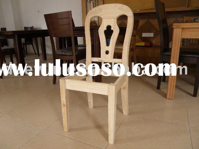 rubber wood unfinished chair