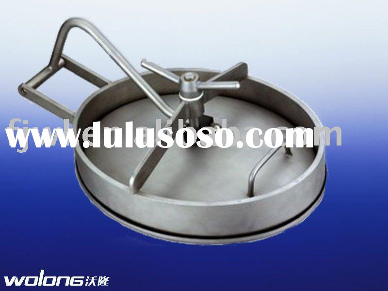 sanitary stainless steel tank manhole cover round