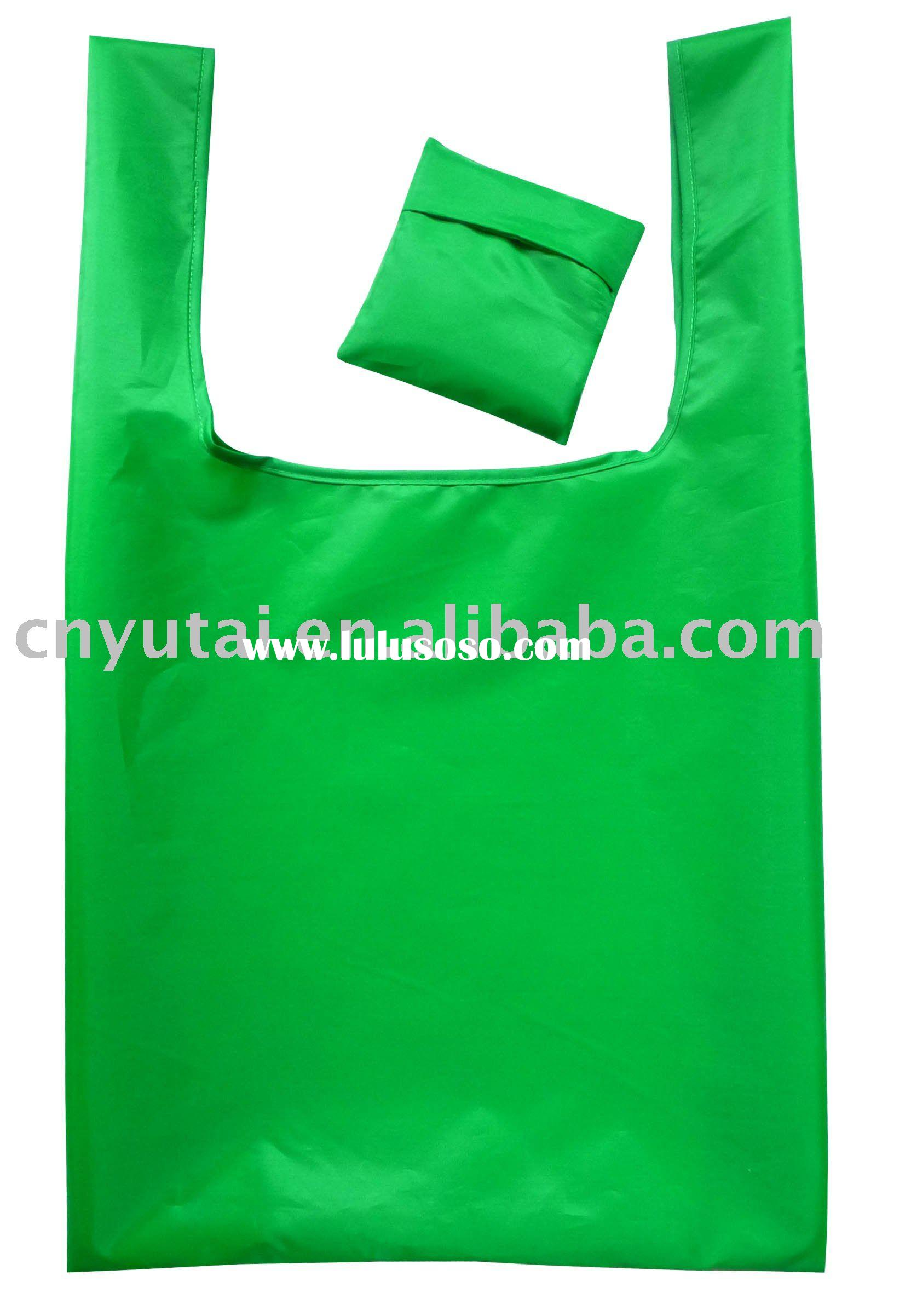 shopping bag,foldable shopping bag in pouch,Polyester shopping bag
