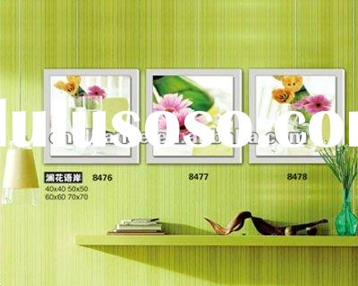 solid painting flower wall art wall paper