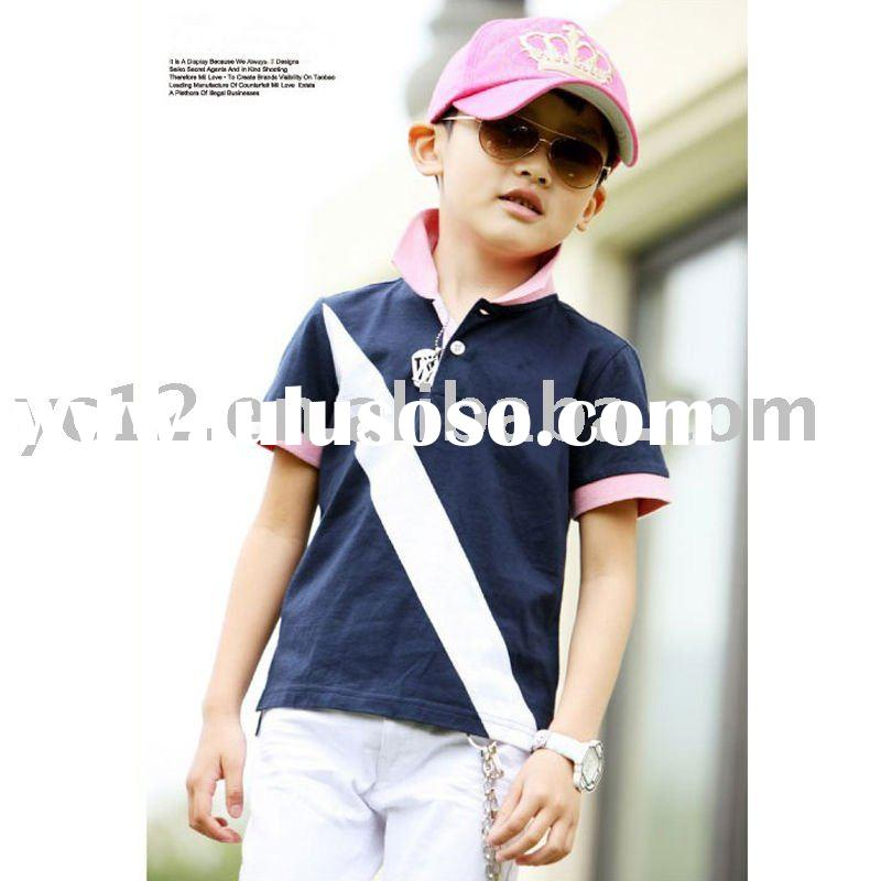 summer fashion pattern short sleeve Navy polo boy's T shirts