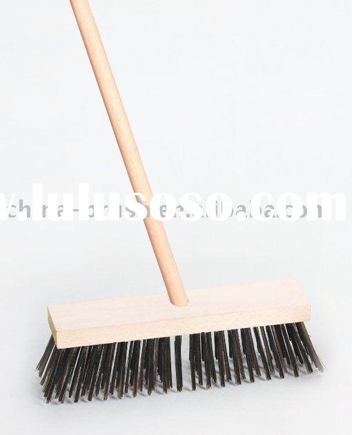 swimming pool brush with beech wooden handle/steel wire brush/cleaning brush