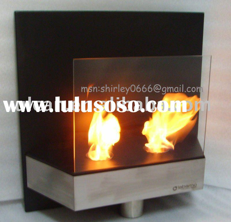 tempered glass +stainless steel wall mounted fireplace FPHZ08-6