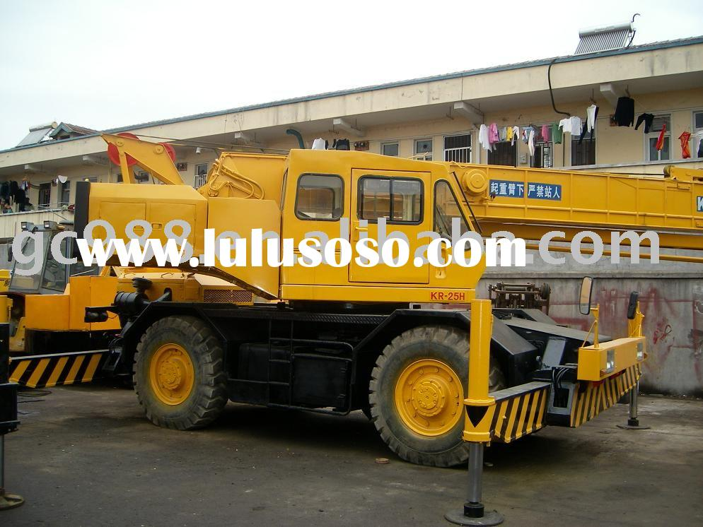 used Kato rough terrain crane 25 ton(terrain crane all terrain cranes second-hand crane)