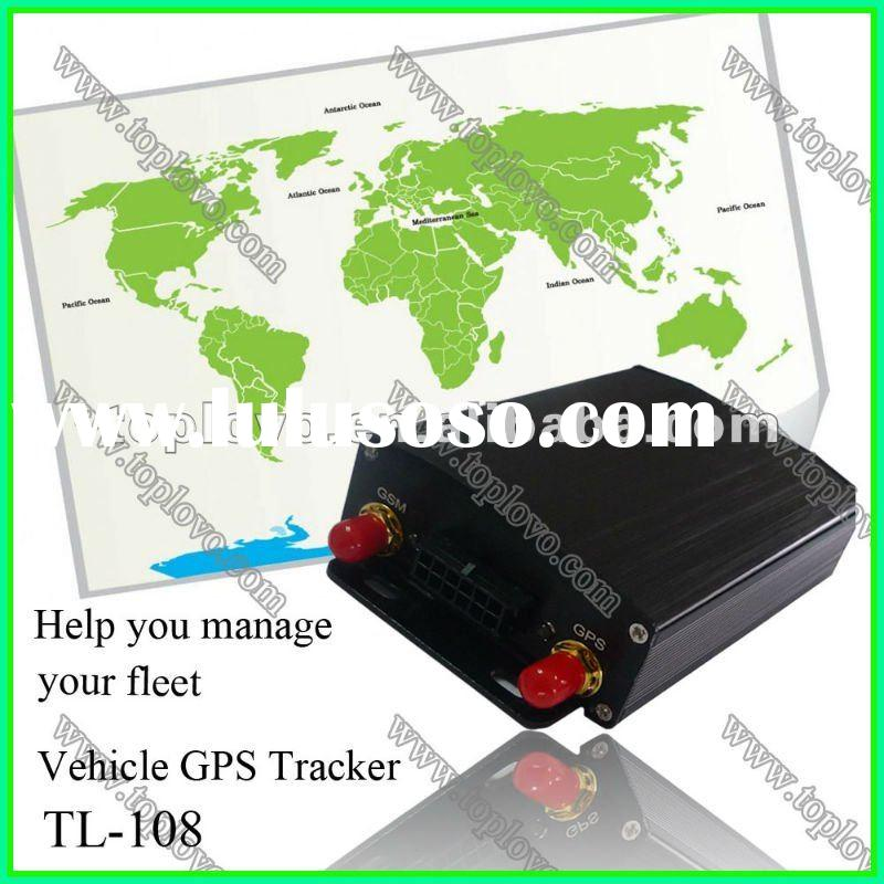 vehicle gps tracker with map server,online tracking,phone call,